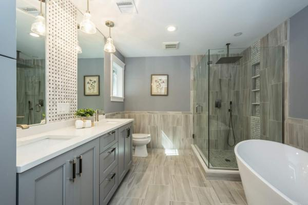 Master Bath Framingham MA Canty Brothers Construction Custom Home Build