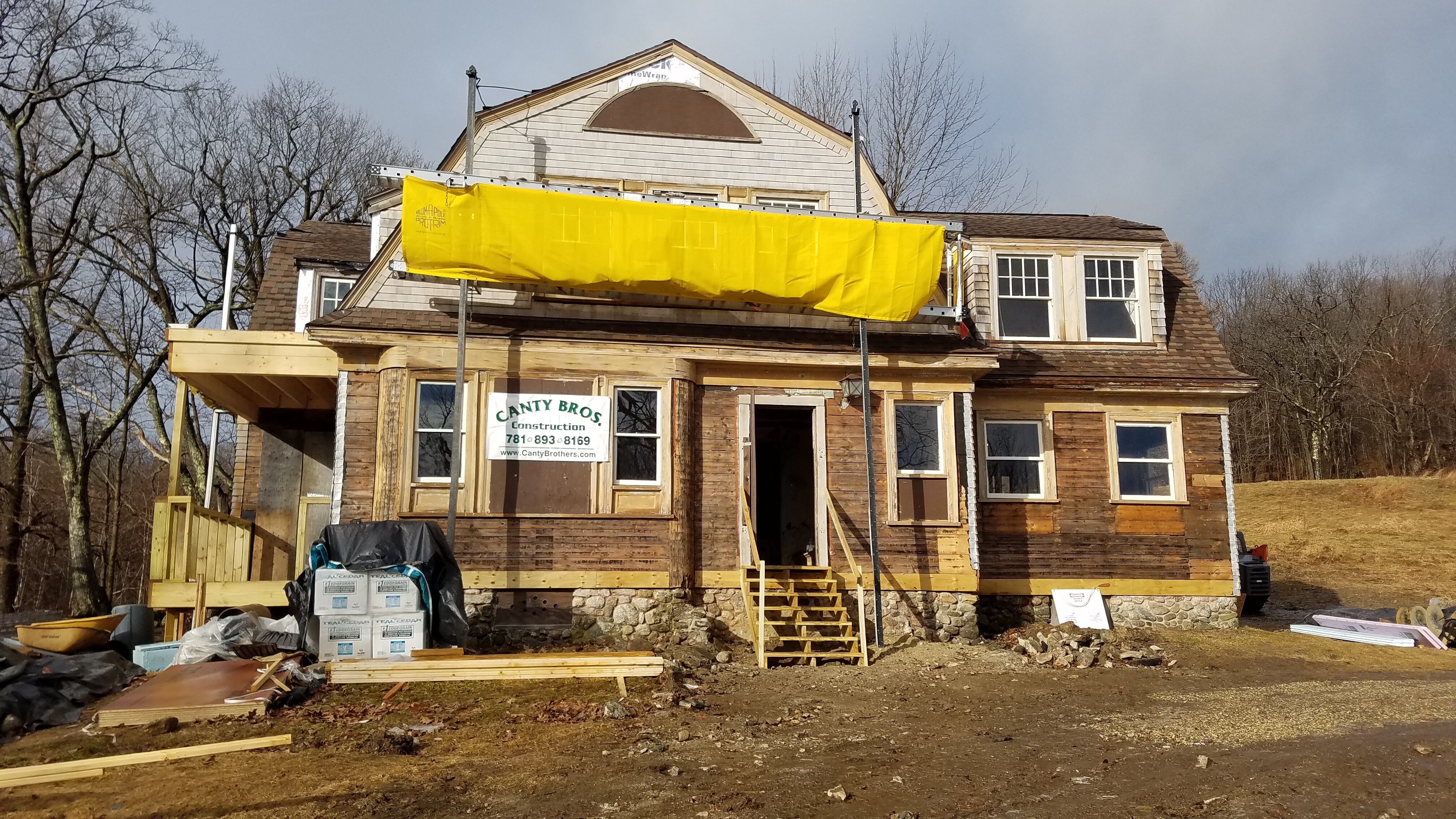 Superintendent's House at Mount Wachusett State Reservation and new home for Mountainside Marke Canty Brothers Construction