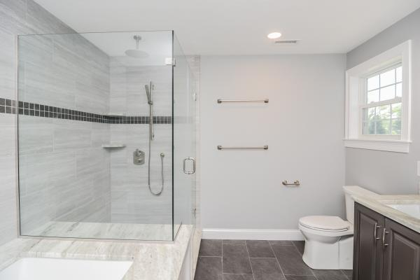 Custom Home Build Residential New Construction Design-Build Canty Brothers Construction Massachusetts Master Bath