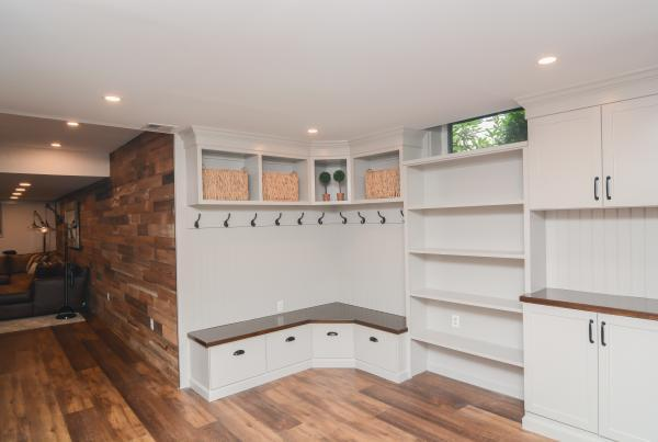 Basement Remodel & Canty Brothers Construction Custom Cabinetry